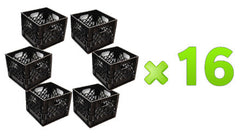 96 Square Milk Crates Pallet (Black Only)