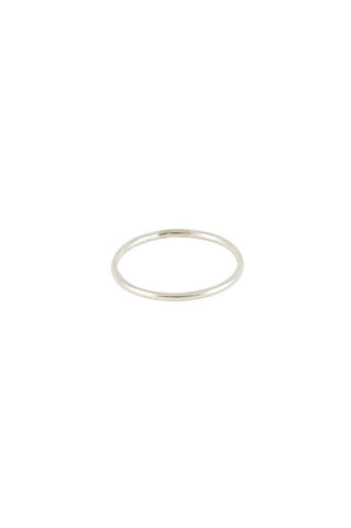 1mm Smooth Ring, Sterling Silver