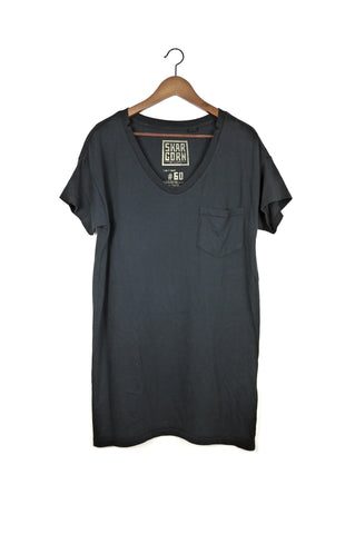 #60 Tee Dress, Black Wash