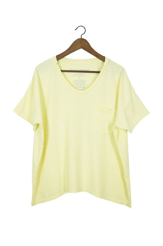 #61 Short Sleeve Tee, Lemon Wash