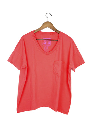 #61 Short Sleeve Tee, Strawberry Wash