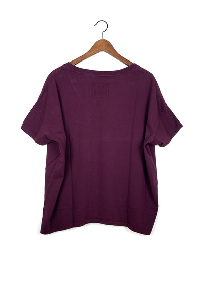 #61 Short Sleeve Tee, Wine Wash