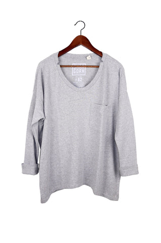 #62 Long Sleeve Tee, Heather Wash