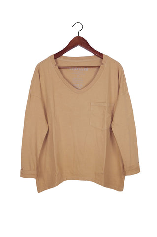 #62 Long Sleeve Tee, Camel Wash