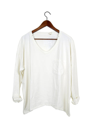 #62 Long Sleeve Tee, Milk Wash