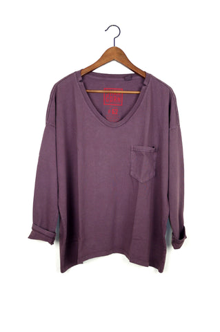 #62 Long Sleeve Tee, Raisin Wash