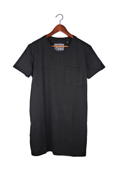 #69 Tee Dress, Black Wash