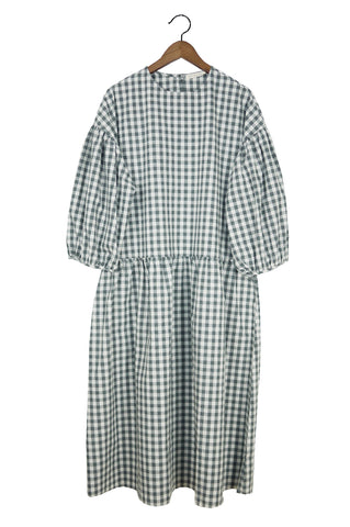 May Dress, Gray Gingham