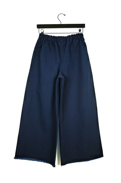 Long Pant, Navy Washed Canvas