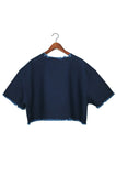 Tee, Navy Washed Canvas