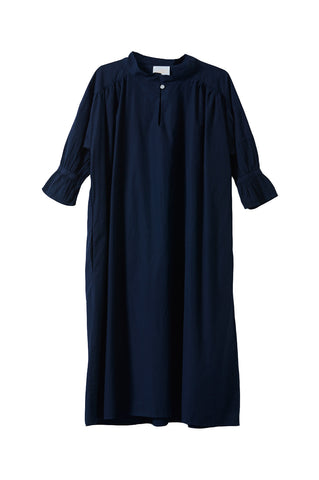 Venice Dress, Dark Navy, Crisp Sleek Cotton