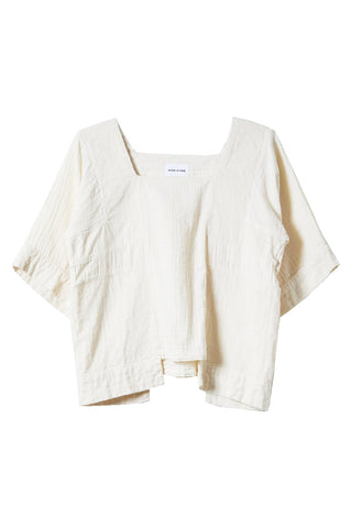 Block Top, Kinari, Wrinkled Cotton