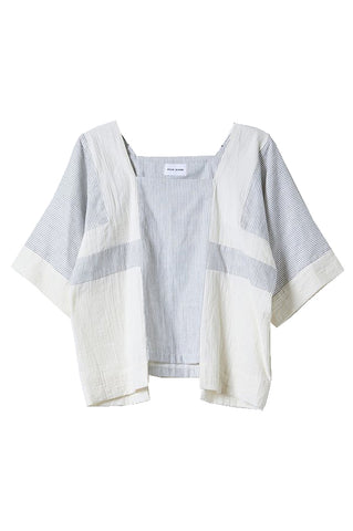 Block Top, Stripe, Wrinkled Cotton