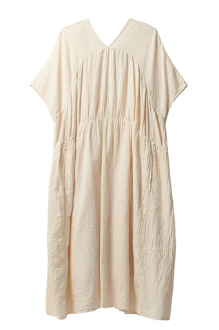 Lihue Dress, Kinari, Wrinkled Cotton