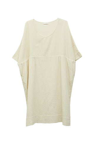 Ella Dress, Cream, Wrinkled Cotton