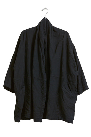 Haori Coat, Black, Cotton
