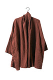 Haori Coat, Brick, Cotton