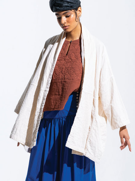 Haori Coat, Kinari, Cotton