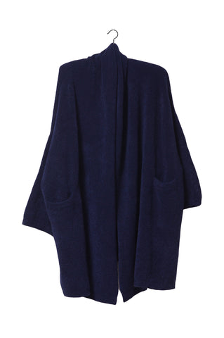 Haori Coat, Alpaca, Navy