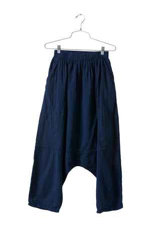 Kiko Pant, Midnight, Wrinkled Cotton