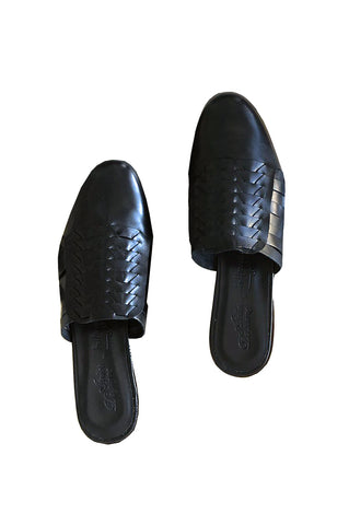Minimalist Shoes, Black Leather