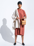 Venice Dress, Bordeaux, Crisp Sleek Cotton