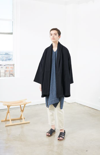 Antwerp Coat, Black, Cotton Wool Blend