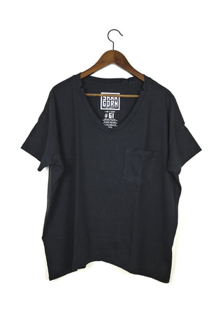 #61 Short Sleeve Tee, Black Wash