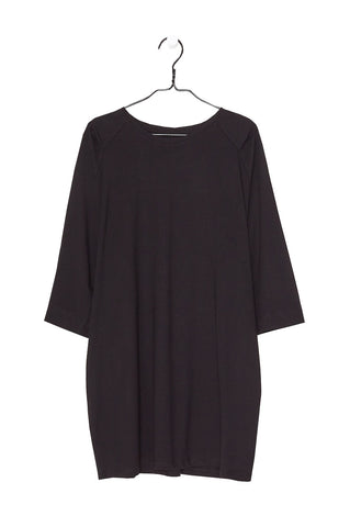 Oversized Tee Dress, Black