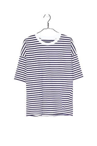 Tall Tee, Blue White Stripe