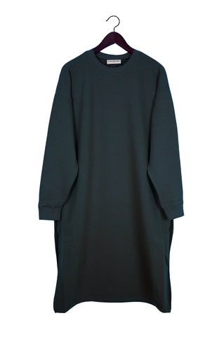 Long Sleeve Sweater Dress, Caviar, Japanese Cotton