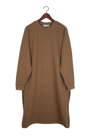 Long Sleeve Sweater Dress, Emine, Japanese Cotton