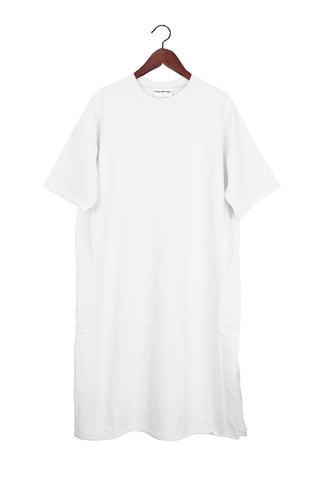 Short Sleeve Sweater Dress, Off White, Japanese Cotton