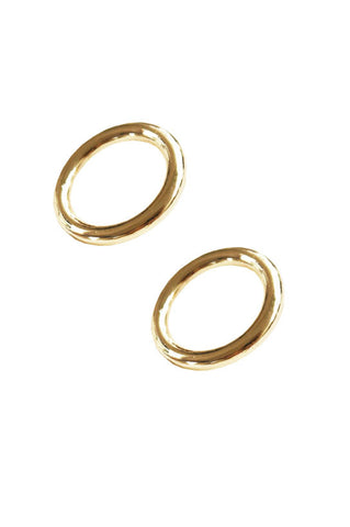 Lia Circle Earrings, Gold Plated