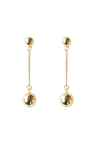 Nelle Ball Earrings, Gold Plated