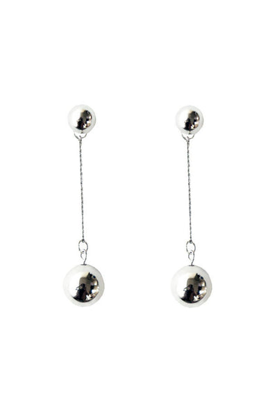 Nelle Ball Earrings, Silver Plated