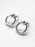 Odette Hoop Earrings, Silver Plated