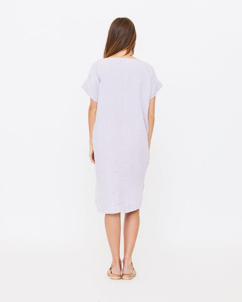 Alice Tunic Dress, Lilac Linen