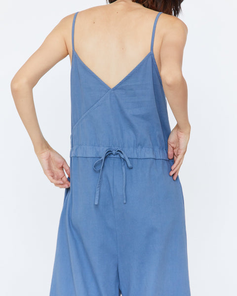 Angie Jumper, Ocean Blue Cotton Twill