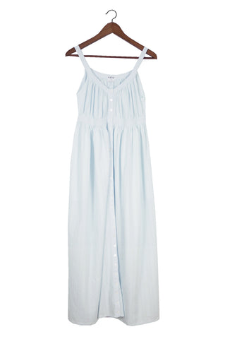 Belle Tank Dress, Sky Cotton Dobby