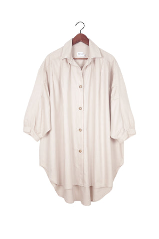 Chelle Oversized Button Down, Pearl