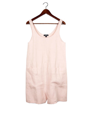 Gary Romper, Blush, Washed Linen