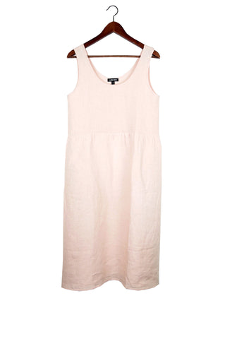 Haley Dress, Blush, Washed Linen