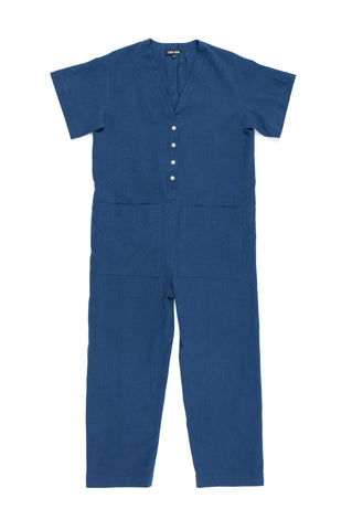 Henry Coverall, Dark, Cotton Linen