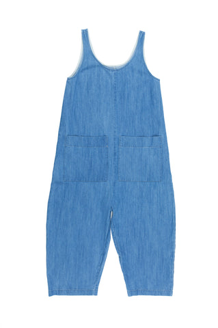 Gary Jumpsuit, Faded Denim, Cotton