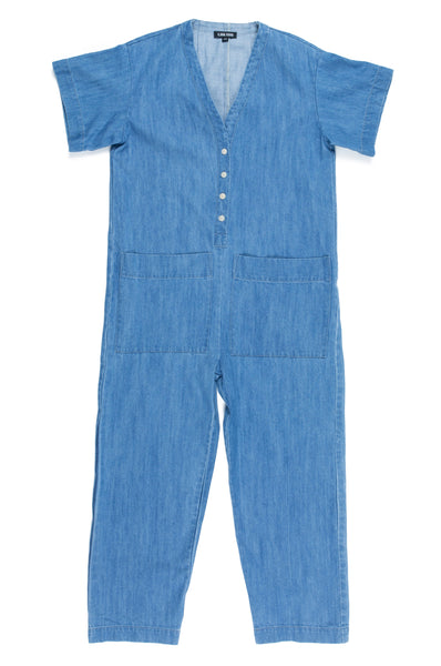 Henry Coverall, Faded Denim, Cotton