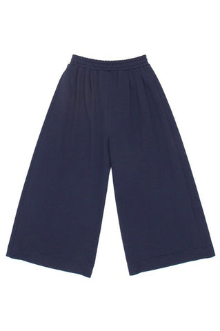 Caroline Pants, Marine, Cotton French Terry