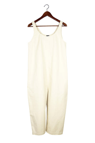 Gary Jumpsuit, Cream, Cotton Washed Twill