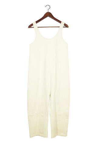 Gary Jumpsuit, Cream, Cotton French Terry