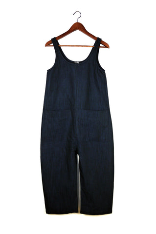 Gary Jumpsuit, Deep Indigo, Cotton Linen